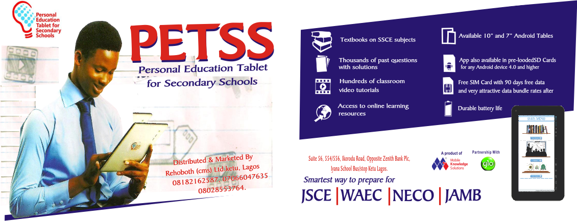 Personal Education Tablet for Secondary Schools